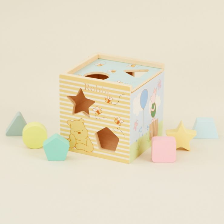 Personalised Orange Tree Toys Disney Winnie The Pooh Shape Sorter