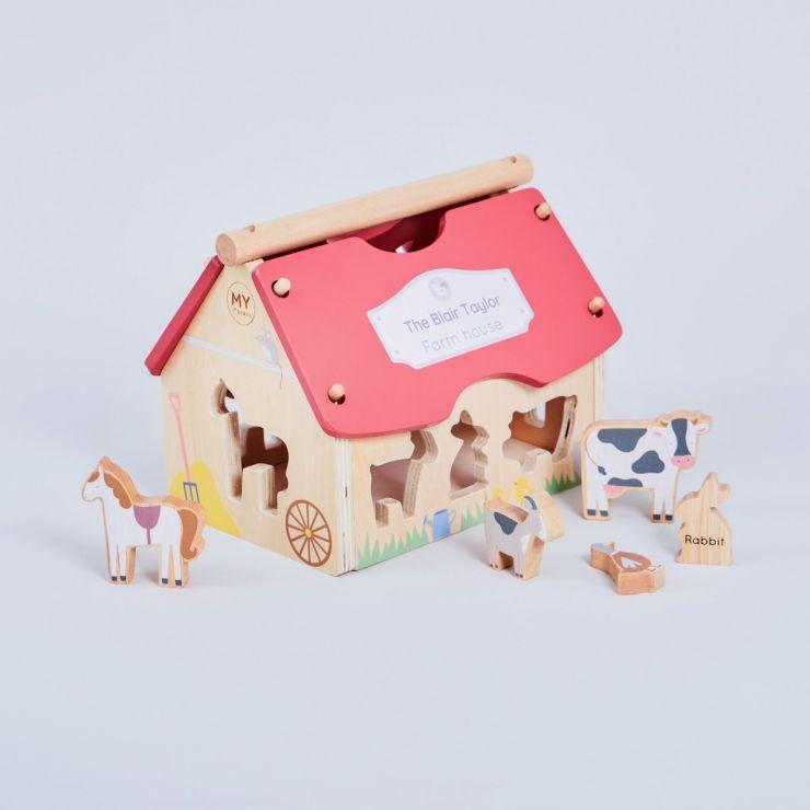 Personalised Wooden Farmhouse Shape Sorter