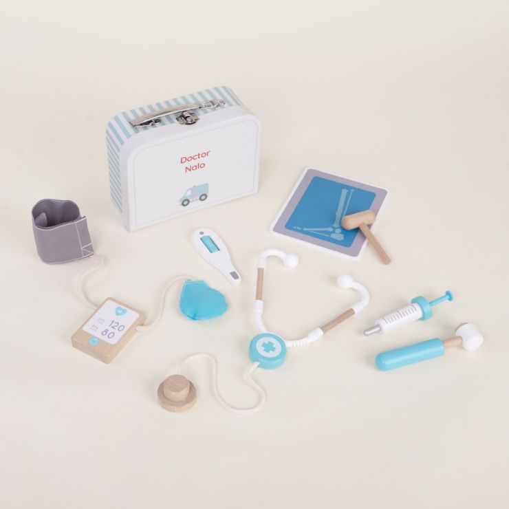 Personalised Doctor's Kit Play Set with Carry Case