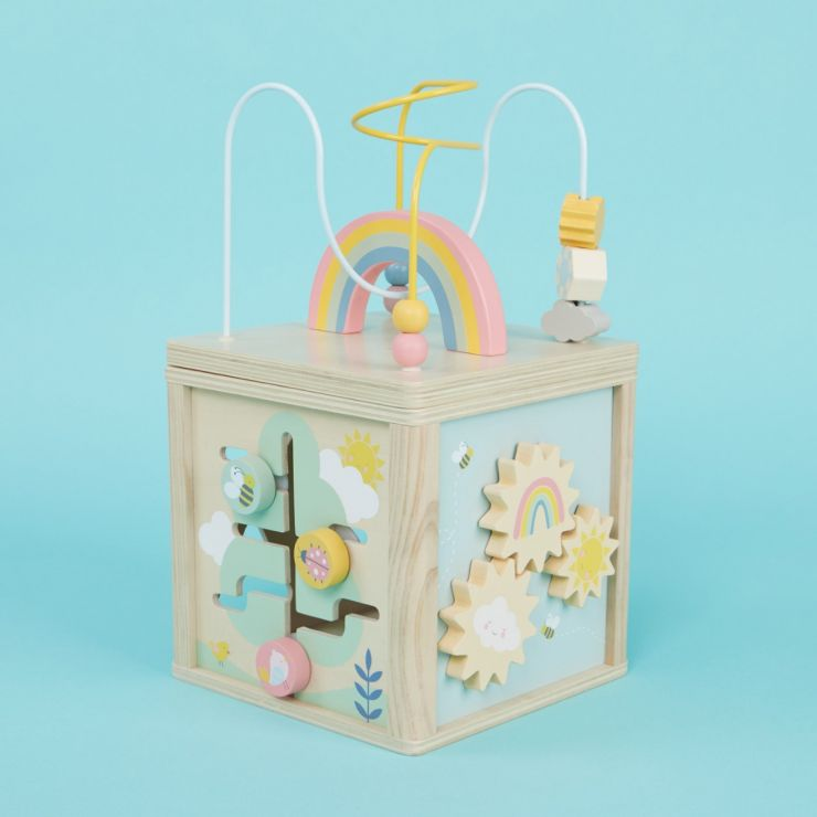 Personalised Wooden Activity Cube Toy