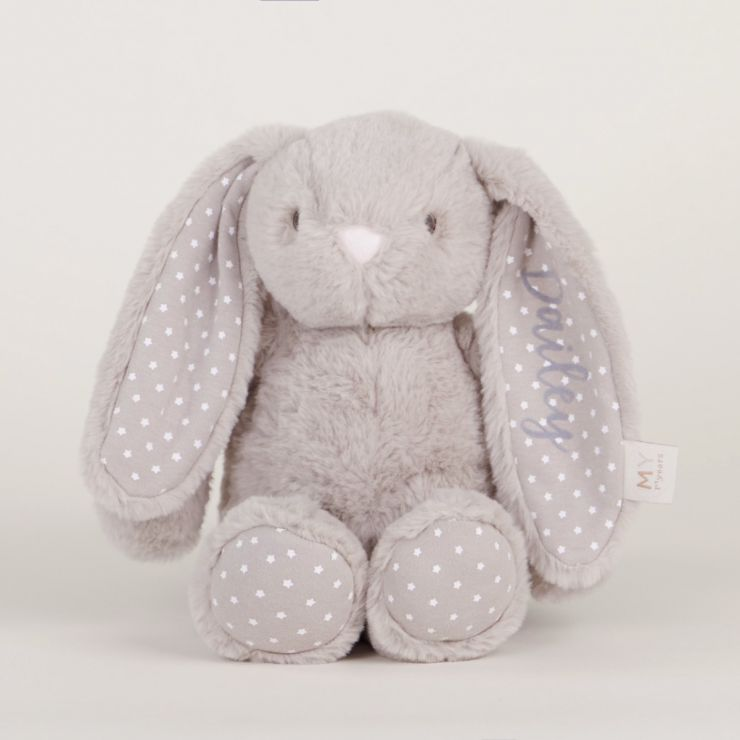 Personalised Taupe Bunny Soft Toy