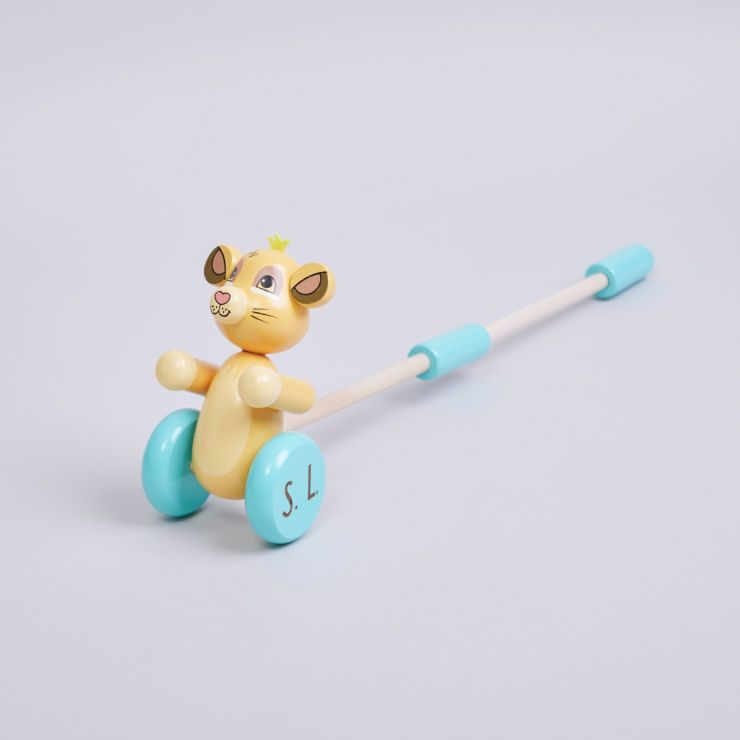 Personalised Wooden Disney Lion King Push-Along Toy