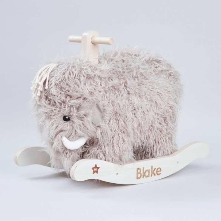 Personalised Wooly Mammoth Wooden Rocker