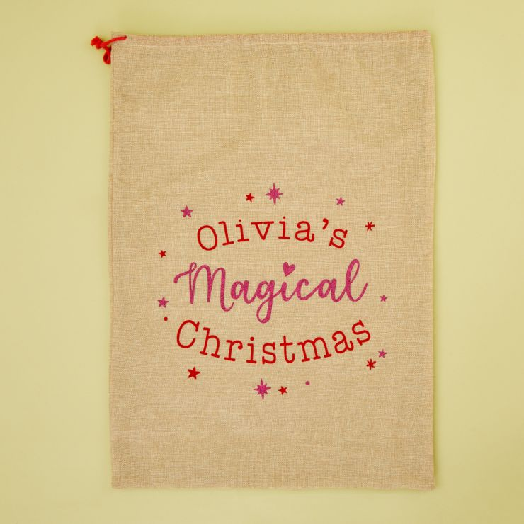 Personalised Magical Christmas Hessian Sack