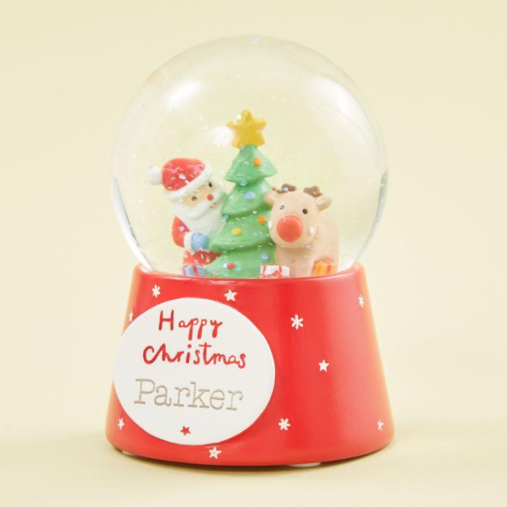 Personalised Santa Scene Snow Globe