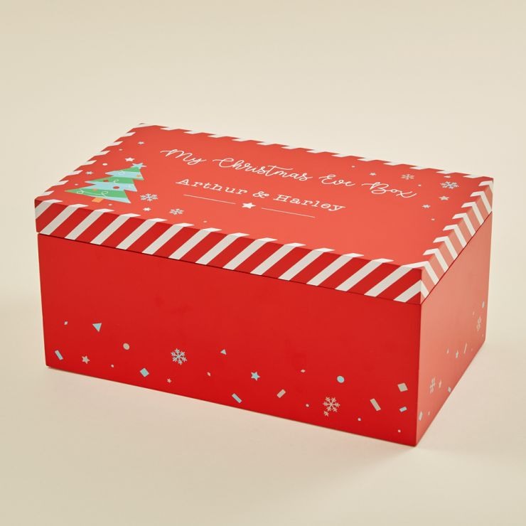 Personalized Red Christmas Eve Box