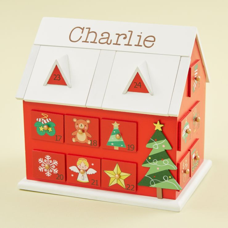 Personalized Advent Calendar House