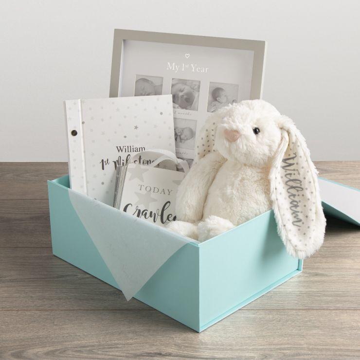 Personalised Newborn Gift Set