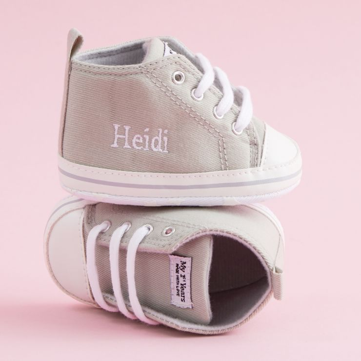Personalized Gray High Tops Sneakers