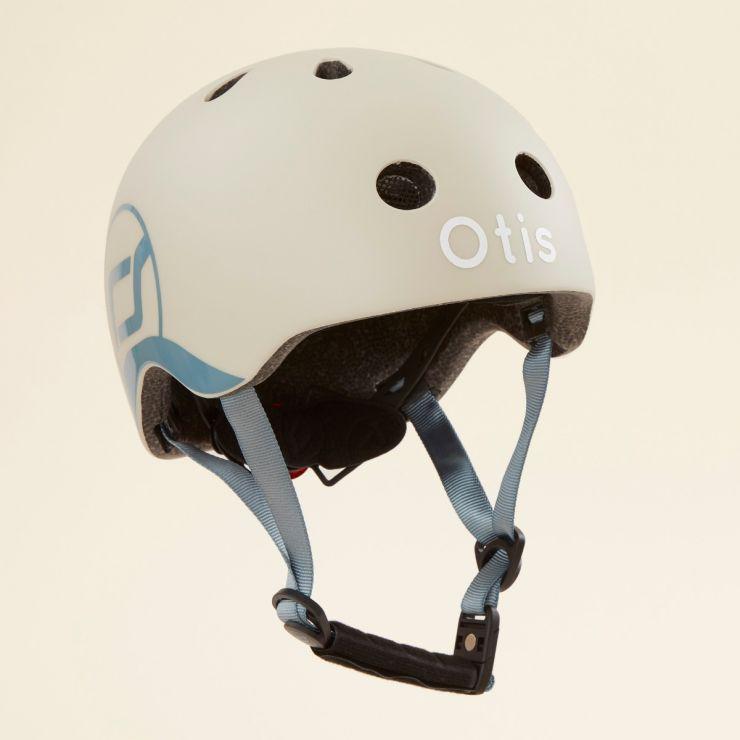 Personalised Scoot and Ride Grey Helmet