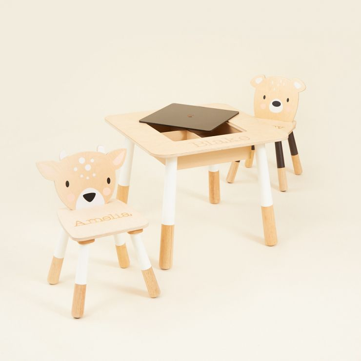 Personalised Tenderleaf Activity Table and Chairs Set