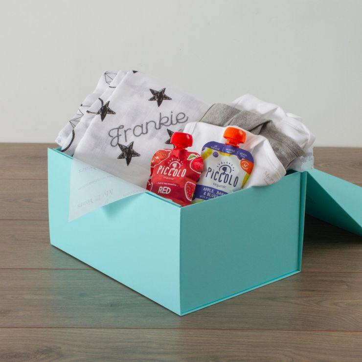 Personalised Baby Essentials Gift Set - Monochrome