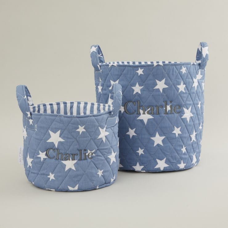Personalized Blue Star Storage Bag Gift Set