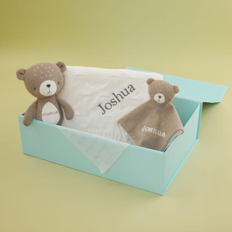 Personalized Baby Bear and Stuffed Animal Gift Set