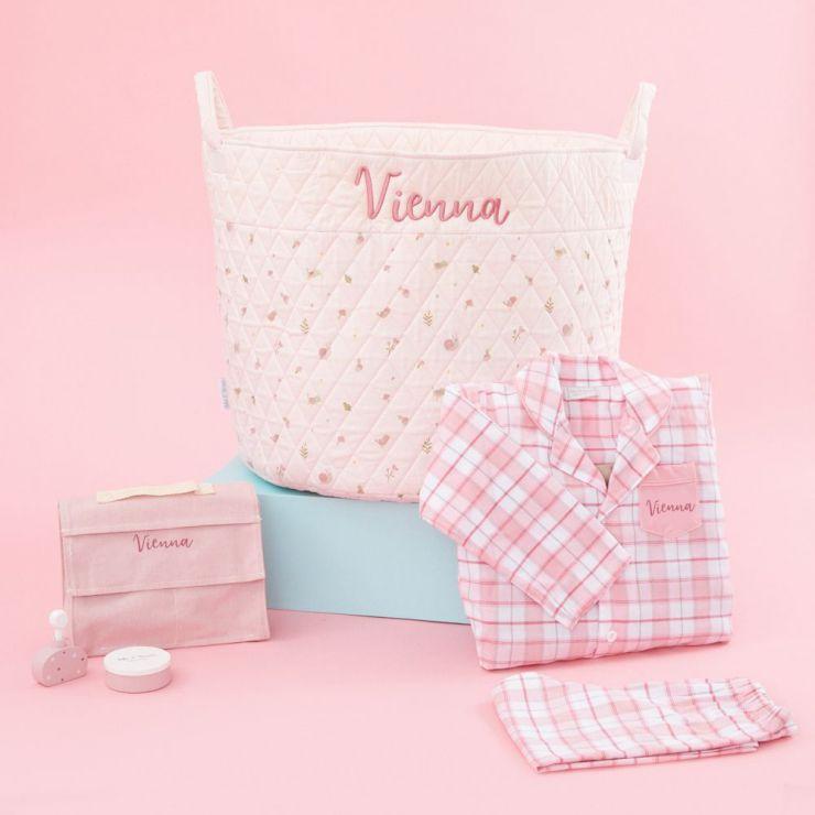 Personalized Pink Playtime & Pajamas Gift Set