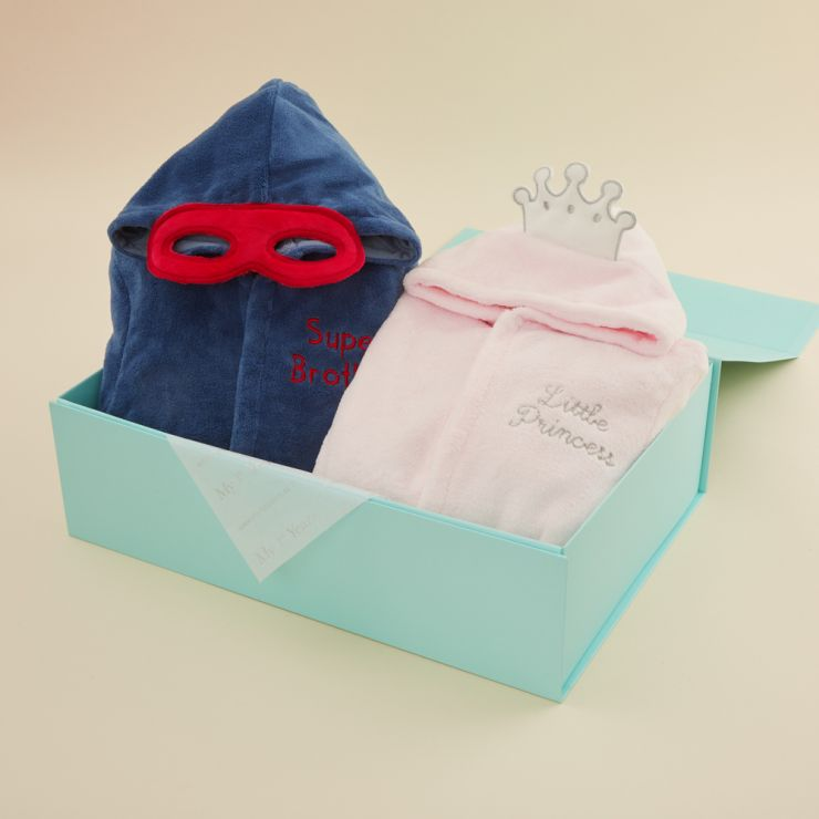 Superhero & Princess Sibling Robes Gift Set