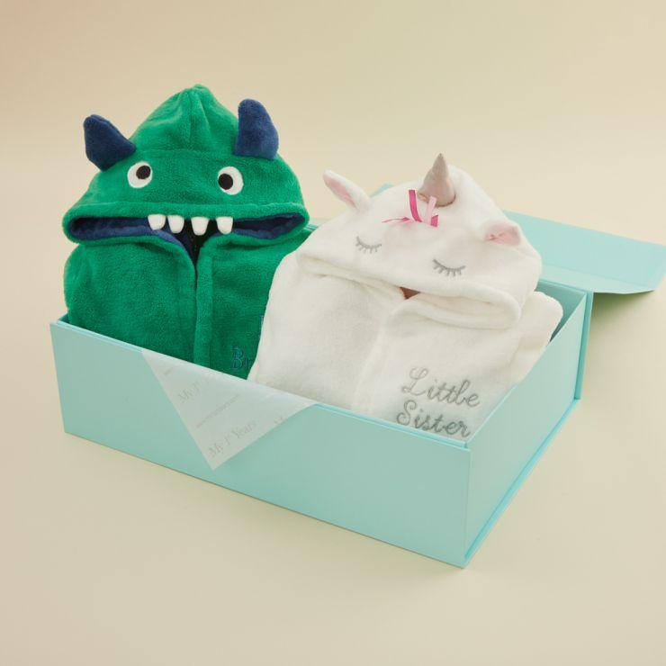 Personalised Unicorn & Monster Sibling Gift Set