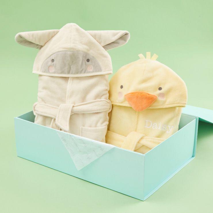 Little Duckling & Little Lamb Sibling Dressing Gowns Set