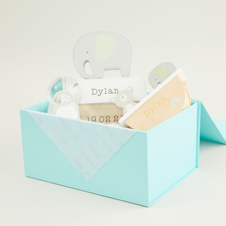 Personalised Neutral Baby Room Accessories Gift Set