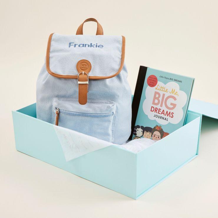 Personalised Little People, Big Dreams Journal & Backpack Gift Set
