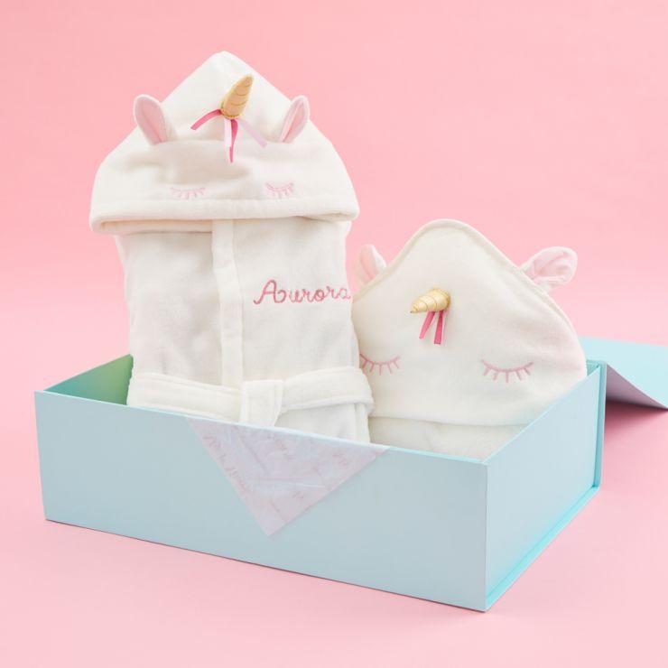 Personalised Unicorn Splash & Snuggle Gift Set