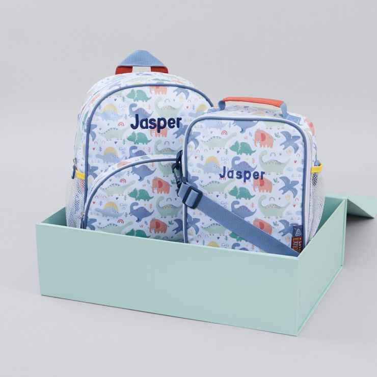 Personalised Jolly Jurassic Lunch Bag Gift Set