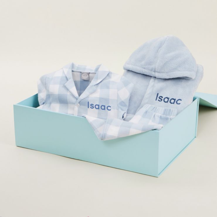 Personalised Blue Essential Bedtime Gift Set
