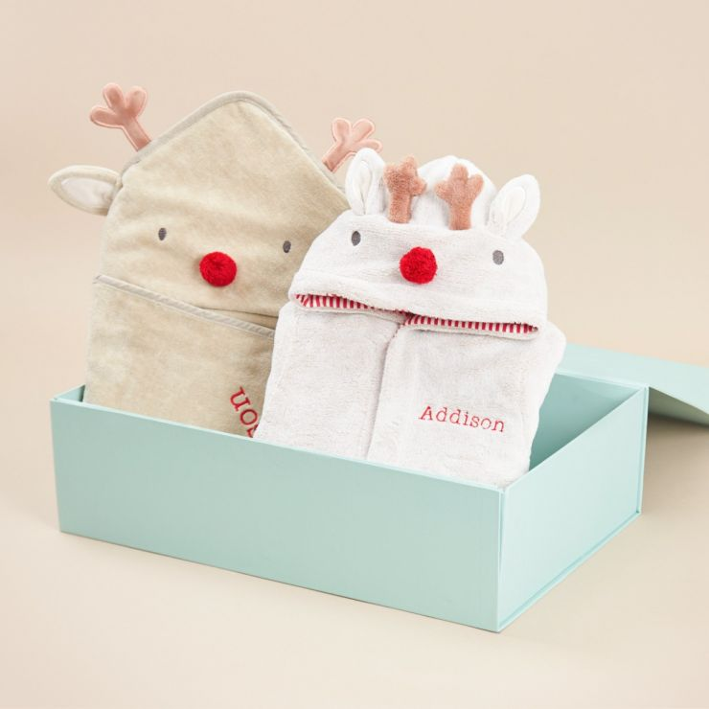 Personalised Reindeer Splash & Snuggle Gift Set