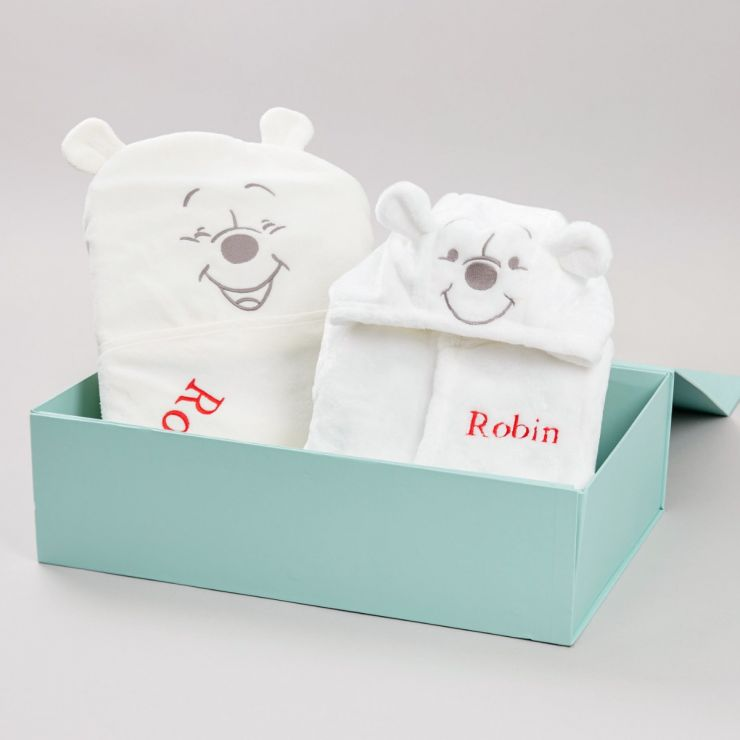 Personalised Winnie the Pooh Splash & Snuggle Gift Set
