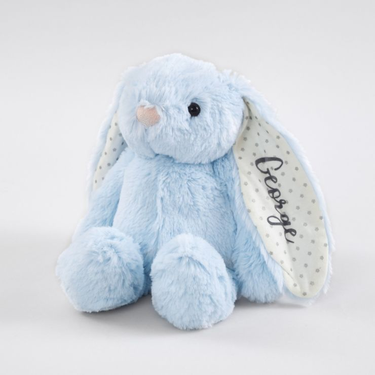 Personalized Blue Bunny Stuffed Animal