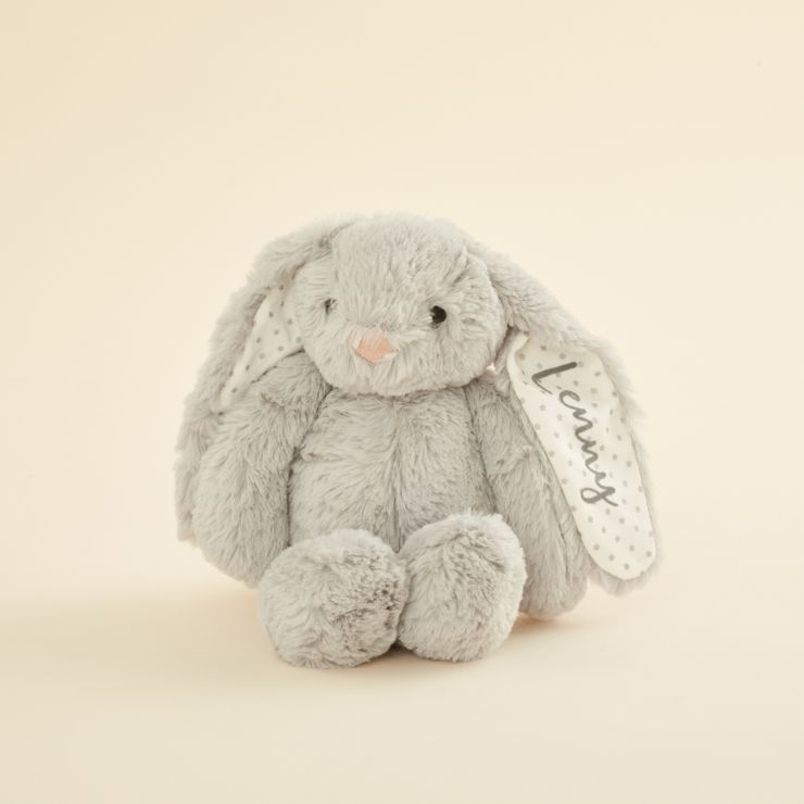 Personalised Grey Bunny Soft Toy | My 1st Years