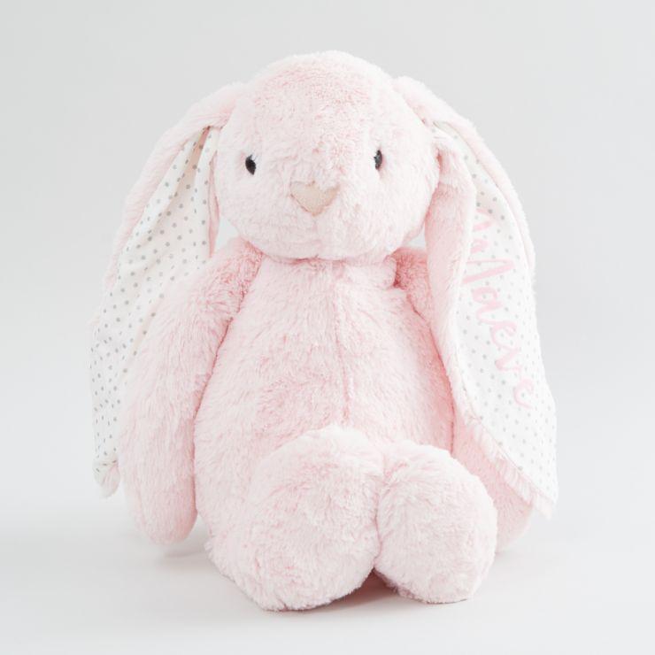 Personalized Large Pink Bunny Stuffed Animal