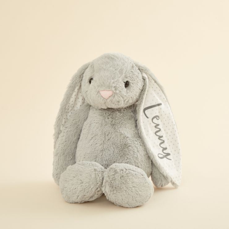 Personalised Large Grey Bunny Soft Toy