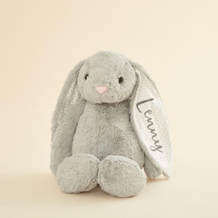 Personalized Large Gray Bunny Stuffed Animal