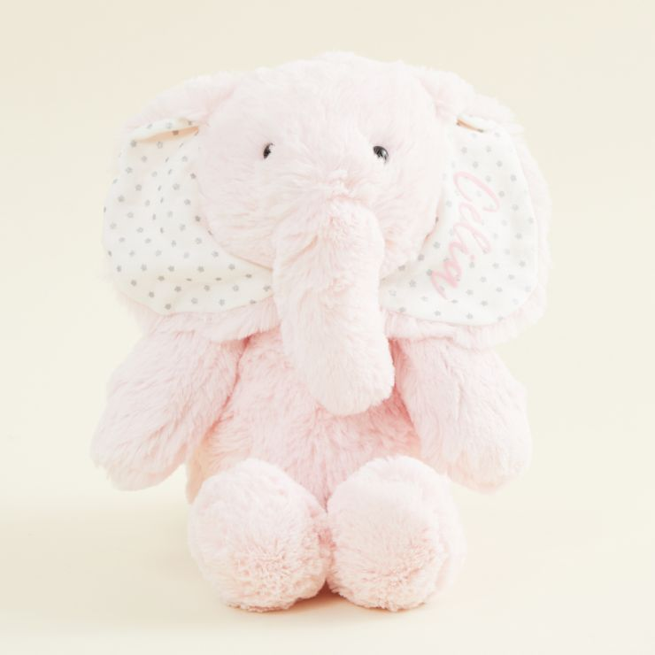 Personalised Pink Elephant Soft Toy