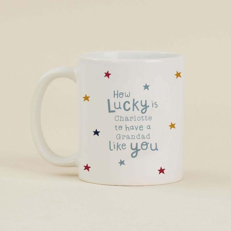 Personalised Star Print 'Lucky' Mug