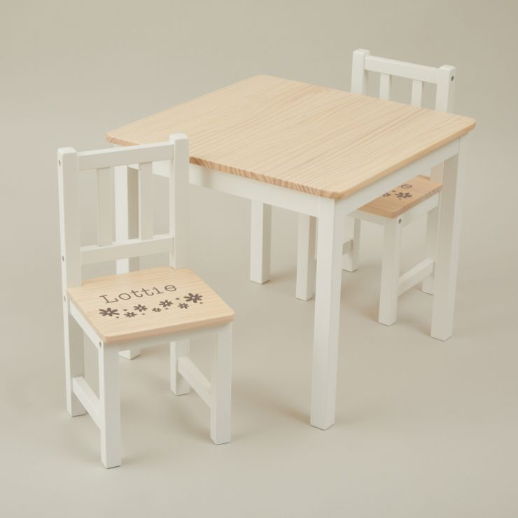 Personalised Floral Design Table and Chairs Set