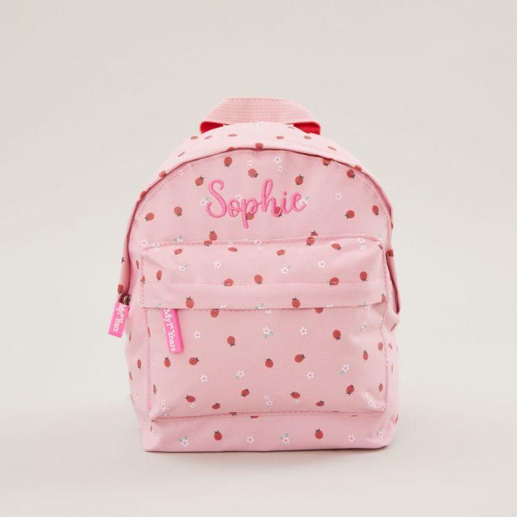 Personalised Ladybird Print Mini Backpack