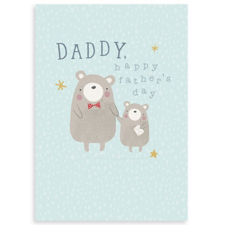 Personalised Bear Design Father's Day Greetings Card