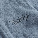Personalised Blue Bear Towelling Robe Personalisation