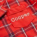 Personalised Traditional Red Check Pyjamas Personalisation