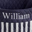 Personalized Large Navy Stripe Storage Bag