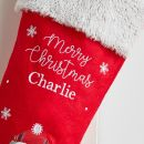 Personalized Small Penguin Stocking With Fur Cuff