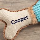 Personalised Blue Bone Pet Toy - Personalisation