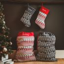Personalized Gray Fairisle Stocking Styled