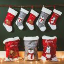 Personalized Small Fur Top Reindeer Stocking Styled