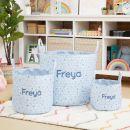 Personalised Small Blue Polka Dot Storage Bag