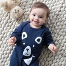 Navy Bear Romper