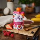 Piccolo Organic Blushing Berries, Pear & Banana 100g Pouch (4 Months+)