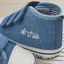 Personalised Chambray High Top Trainers Personalisation
